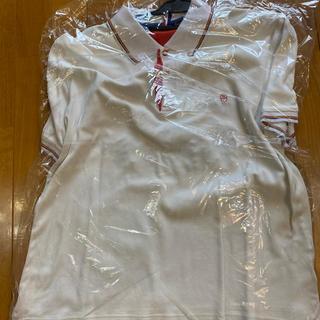 カステルバジャック(CASTELBAJAC)のなんとも言えない白色部分 本当に白い半袖 L正規約¥34000クリーニング仕上げ(シャツ)
