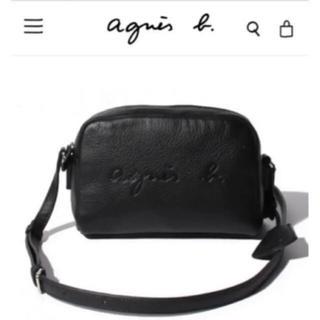 agnes b. - 大人気❤agnes b.エンボスロゴショルダーバッグ BLACK 新品