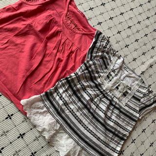 ジーユー(GU)の女の子夏物カットソーTシャツ 140cm(Tシャツ/カットソー)
