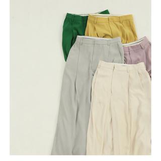 トゥデイフル(TODAYFUL)のTODAYFUL☆Georgette Rough Trousers エクリュ36(カジュアルパンツ)