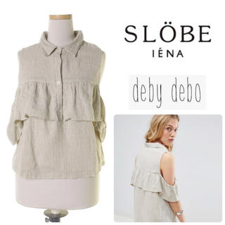 イエナスローブ(IENA SLOBE)のdeby debo ■コットン シャツ ブラウス 2way(シャツ/ブラウス(半袖/袖なし))