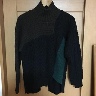 kolor 18aw crazy pettern knit