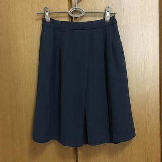インデックス(INDEX)のindex 紺色スカート(ひざ丈スカート)