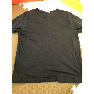 ジーユー(GU)のgu ネイビー Tシャツ レディース 訳あり(Tシャツ(半袖/袖なし))