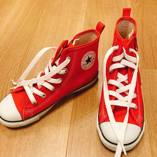 コンバース(CONVERSE)の新品 赤 コンバス キッズ(スニーカー)