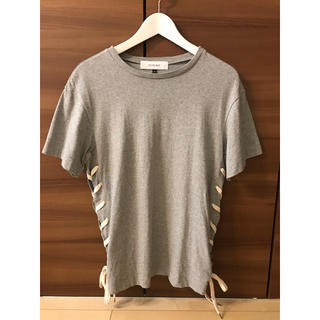 LE CIEL BLEU - ルシェルブルー レースアップロングTシャツ ライトグレー サイズ38