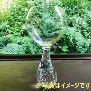 スガハラ(Sghr)のスガハラ ギャラクシー レッドワイングラス クリアー(透明)2脚 中古品(グラス/カップ)