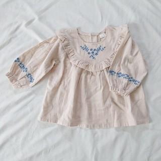 しまむら - 【新品】テータテート 刺繍ブラウス トップス 90