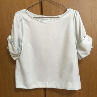 クチュールブローチ(Couture Brooch)のミントグリーン半袖トップス☆(カットソー(半袖/袖なし))