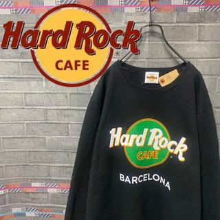 ハードロックカフェ スウェット トレーナー ビックロゴ 90s 黒 54