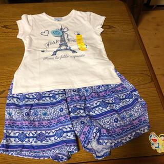 マザウェイズ(motherways)のお値下げ‼️ 新品 マザウェイズ  120 セット Tシャツ キュロット(Tシャツ/カットソー)