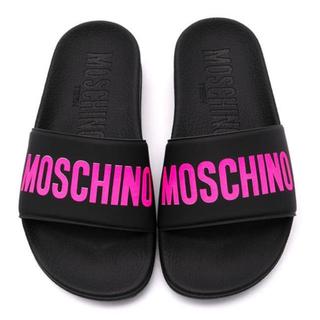 モスキーノ(MOSCHINO)の【新作】モスキーノ サンダル ブラック×ピンク(サンダル)