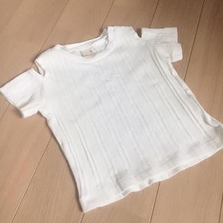 プティマイン(petit main)のプティマイン  肩出しTシャツ  オフショル 肩見せ(Tシャツ/カットソー)