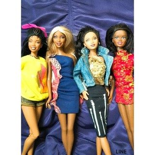 バービー(Barbie)のブラックバービー 4体セット バービー人形(ぬいぐるみ/人形)
