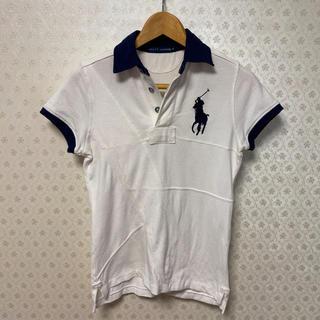 ラルフローレン(Ralph Lauren)の❤️良品❤️ラルフローレン❤️レディース ❤️半袖ポロシャツ❤️白パッチワーク(ポロシャツ)