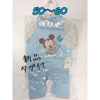 Disney - 新品◎50~60◎綿100% 新生児 ロンパース 半袖 ミッキー ディズニー