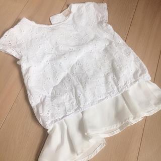 プティマイン(petit main)のプティマイン  レース カットソー チュール ペプラム(Tシャツ/カットソー)