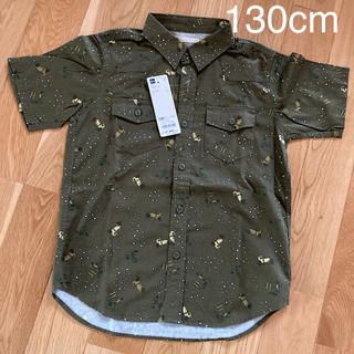 GU - GU  【新品.未使用】半袖シャツ プリンシャツ 子供 130cm