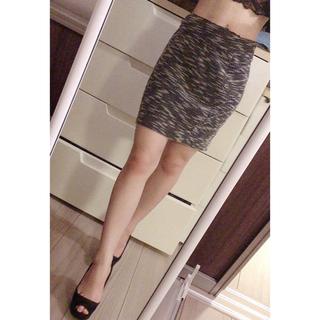 エイミーイストワール(eimy istoire)のタイトスカート ツイード(ひざ丈スカート)