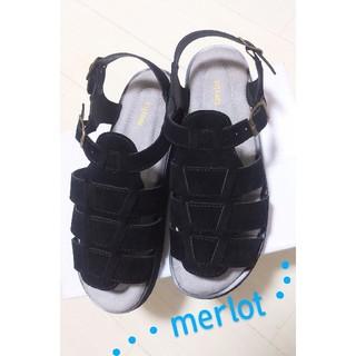 メルロー(merlot)の★merlot  メルロー サンダル型フラット型ゴム調節ありLL  24.5㎝(その他)