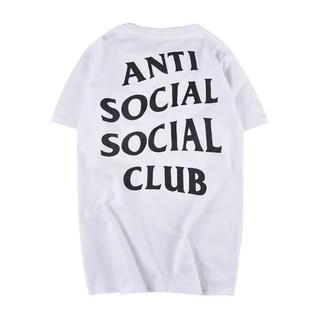 アンチ(ANTI)の新品未使用 ANTISOCIAL CLUB 白L(Tシャツ/カットソー(半袖/袖なし))