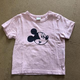 プティマイン(petit main)のプティマイン:ミッキーTEE(ピンク)(Tシャツ/カットソー)