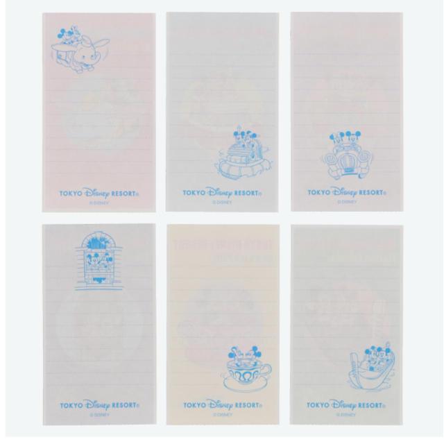 Disney(ディズニー)のディズニー レトロ メモ TDR ミッキー ミニー インテリア/住まい/日用品の文房具(ノート/メモ帳/ふせん)の商品写真
