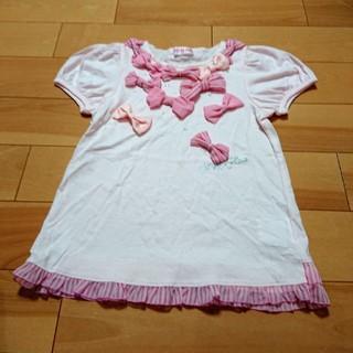 mezzo piano - 専用!!   メゾピアノ リボンいっぱいTシャツ 130 新品