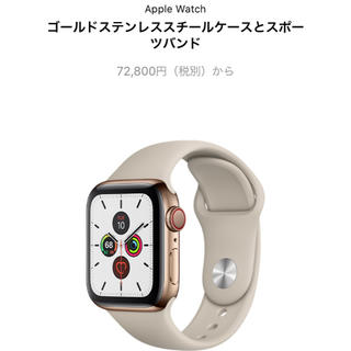 アップルウォッチ(Apple Watch)のApple Watch series5 (その他)