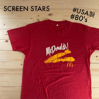 マクドナルド(マクドナルド)のマクドナルド Tシャツ 80's ヴィンテージ古着 オリンピック(Tシャツ/カットソー(半袖/袖なし))