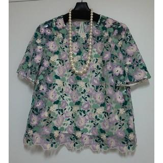 ANAYI - アナイ★2019年春、夏物★新品刺繍が素敵なブラウス★サイズ38