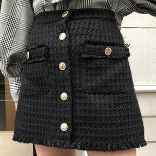 one spo - 定価6490円 ハウンドトゥース台形スカート