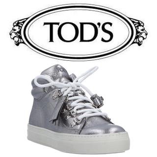 トッズ(TOD'S)のトッズ スニーカー 美品 イタリア 購入 シルバー(スニーカー)