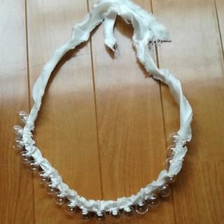 ミナペルホネン(mina perhonen)のミナペルホネン schiuma ガラス玉ネックレス(ネックレス)