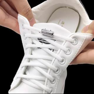 2足分セット 4個 シルバー おしゃれ 靴紐 結ばない ほどけない 止め具