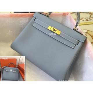 Hermes - 両用HERMESバッグレアーな水色ケリー28(内縫い)ブルーランハンドバッグ
