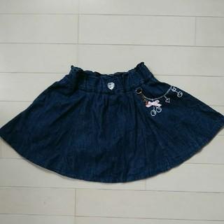 サイズ110 デニムスカート インナーパンツ付