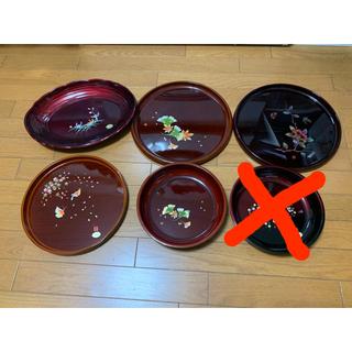 お盆 トレイ 菓子皿 合成漆器 5枚(その他)