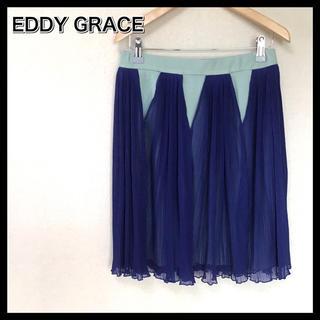 エディグレース(EDDY GRACE)のエディグレース 新品未使用 シフォンプリーツスカート M ブルー モード(ミニスカート)