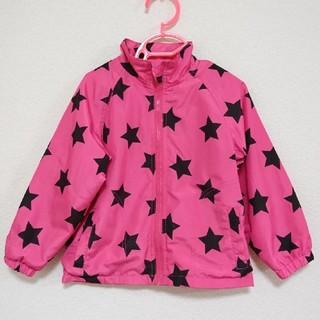 ニシマツヤ(西松屋)の西松屋 キッズ 女の子 ウィンドブレーカー パーカー ピンク 星柄 95㎝(ジャケット/上着)