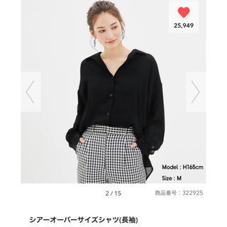GU - GU シアーオーバーサイズシャツ 新品