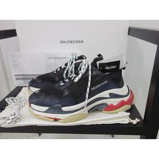 バレンシアガ(Balenciaga)の新品 42 正規品 バレンシアガ トリプルS ブラック ホワイト レッド メンズ(スニーカー)