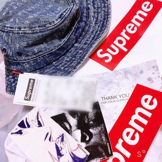 シュプリーム(Supreme)のsupreme Jacquard Logos Denim Crusher S/M(ハット)