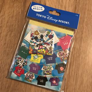 Disney - 新作♡ディズニーリゾート 折り紙メモ Tシャツ 総柄