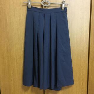 ショコラフィネローブ(chocol raffine robe)の紺色スカート風ワイドパンツ(カジュアルパンツ)