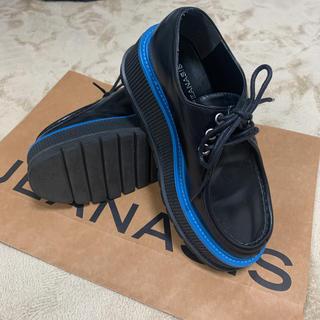 ジーナシス(JEANASIS)のjeanasis 厚底シューズ プラットフォーム マニッシュシューズ マーチン風(ローファー/革靴)