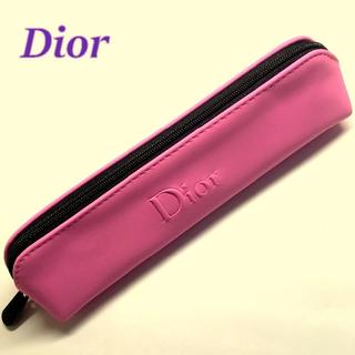 ディオール(Dior)のDior ピンク × ブラック ペンケース コスメポーチ 小物入れ ミニポーチ(ポーチ)
