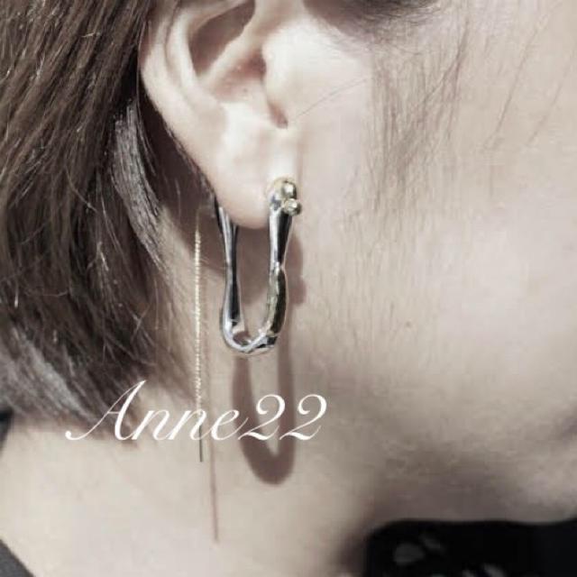 L'Appartement DEUXIEME CLASSE(アパルトモンドゥーズィエムクラス)のExude needle ピアス 【New in】ヌードルピアス片耳 レディースのアクセサリー(ピアス)の商品写真