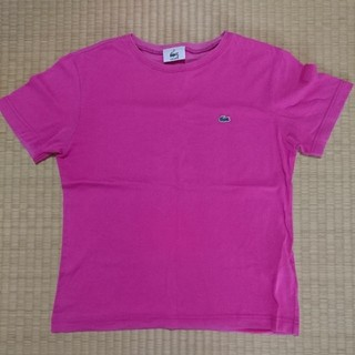 LACOSTE - 【LACOSTE】size40(M)ピンク半袖Tシャツ ラコステ