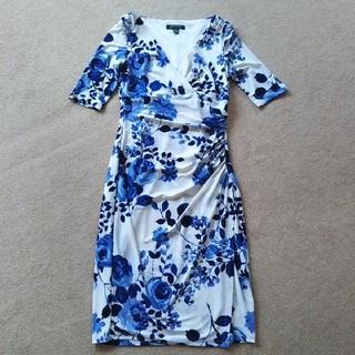 ラルフローレン(Ralph Lauren)の短時間着用の美品 ローレンラルフローレン ワンピース 0 7号(ひざ丈ワンピース)